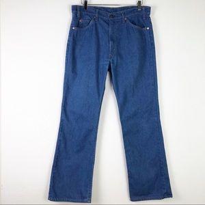 VTG Levi's 517 1970's Orange Tab Talon Zipper Denim Blue Jeans Made in USA